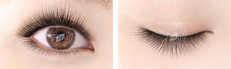 Cute (キュート) 中央に長めのエクステンションをつけることで、印象的な黒目を演出。